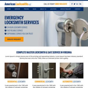 website template for a locksmith